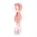 OMEGA CANTIL FABRIC CABLE BRAIDED MICRO USB TO USB 2A 118 COPPER 1M ROSE GOLD [44260]