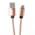 OMEGA  METAL CABLE MICRO USB TO USB 1.8A 1M ROSE GOLD [44207]
