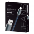 OMEGA JEANS CABLE TYPE-C TO USB 2A 118 COPPER 1M BOX BLUE [44204]