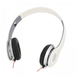 FREESTYLE HI-FI STEREO HEADPHONES FH4007 MIC AUDIOBEAT WHITE [41866]