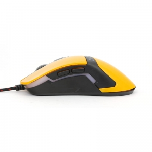 MOUSE OMEGA VARR OM-270 GAMING 1200-1600-2400-3200DPI YELLOW [41785]