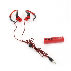 FIESTA EARPHONES BLUETOOTH + SELFIE SHUTTER FIS915 RED [43516]