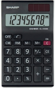 SHARP CALCULATOR DESKTOP BOX EL310ANWH