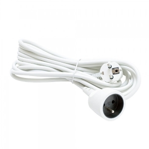 PLATINET ONE-SOCKET EXTENSION CORD WHITE 3M GERMAN PLUG [44780]