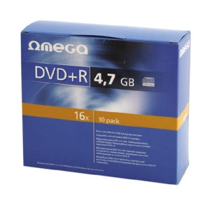 OMEGA DVD+R 4,7GB 16X SLIM CASE*10 [56823]