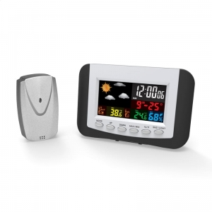 OMEGA DIGITAL WEATHER STATION COLOR LCD INDOOR/OUTDOOR WIRELLESS [43970]