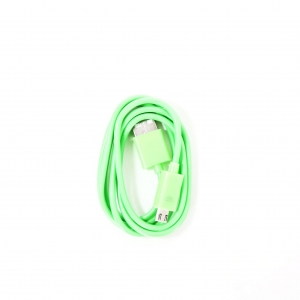 OMEGA BAJA PVC MICRO USB TO USB & DATA POLY CABLE 2A 1M GREEN [44341]