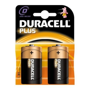 DURACELL BATTERY ALKALINE PLUS LR20/D MN1300 BLISTER*2
