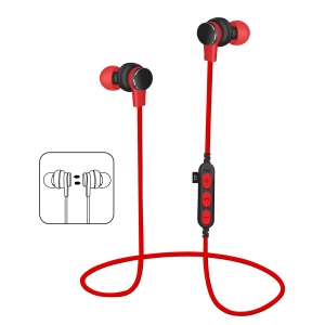 PLATINET IN-EAR BLUETOOTH V4.2 + microSD EARPHONES + MIC PM061 RED [44470]