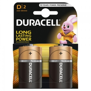 DURACELL BATTERY ALKALINE BASIC LR20/D M BLISTER *2