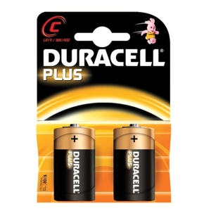 DURACELL BATTERY ALKALINE PLUS LR14/C MN 1400 BLISTER*2