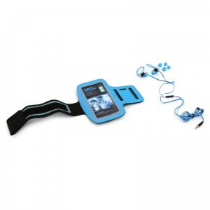PLATINET IN-EAR EARPHONES + MIC SPORT + ARMBAND PM1070 BLUE [42927]