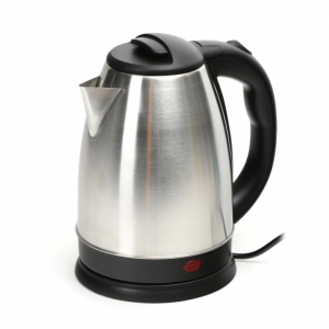 OMEGA ELECTRIC KETTLE 1500W STAINLESS STEEL BRUSHED FINISH [ 45189 ]