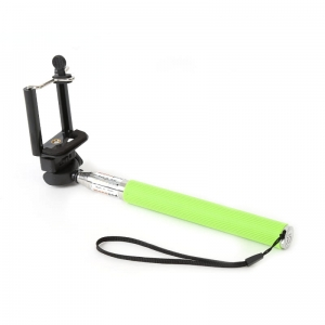 OMEGA MONOPOD - SPORT CAMERA TELESCOPIC POLE SELFIE STICK GREEN [43019]