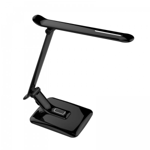 PLATINET DESK LAMP 12W + 6W USB CHARGER BLACK [44397]