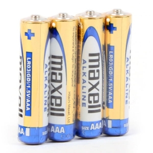 MAXELL BATTERY ALKALINE LR03/AAA SHRINK*4  790233.04.CN