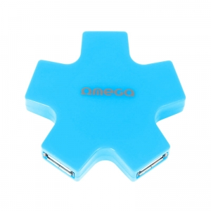 OMEGA USB 2.0 HUB 4 PORT STAR BLUE [43520]