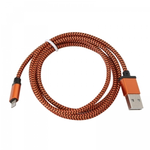 PLATINET ERIS USB LIGHTNING FABRIC BRAIDED CABLE 1M ORANGE