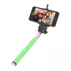 OMEGA MONOPOD - SMARTPHONES CABLE TELESCOPIC POLE SELFIE STICK GREEN [43422]