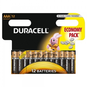 DURACELL BATTERY ALKALINE BASIC LR03/AAA BLISTER *12