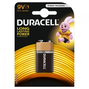 DURACELL BATTERY ALKALINE BASIC 9V M BLISTER *1