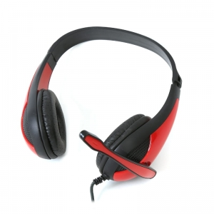 FREESTYLE HI-FI STEREO HEADSET + MIC + ADAPTER 2-1 FH4008 RED [42678]
