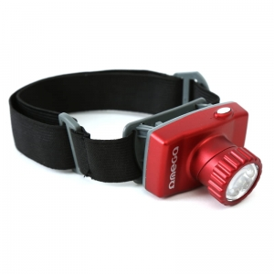 OMEGA HEADLAMP 8*LED 7-M RED BATT INCL  [42398]