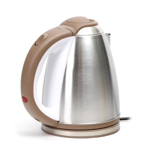 OMEGA ELECTRIC KETTLE 1500W STAINLESS STEEL BRUSHED FINISH WHITE/BEIGE [ 45190 ]