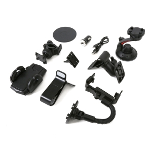 OMEGA UNIVERSAL CAR & BIKE ACCESSORIES KIT 10 IN 1 FOR SMARTPHONES & GPS [42833]