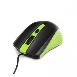 MOUSE OMEGA OM-05G OPTICAL 1000DPI BLACK/GREEN BLISTER [41788]