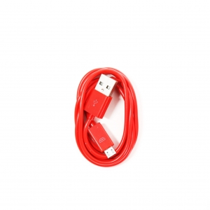 OMEGA BAJA PVC MICRO USB TO USB & DATA POLY CABLE 2A 1M RED [44342]