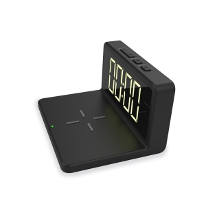 PLATINET ALARM CLOCK WITH WIRELESS CHARGER 5W [45101]