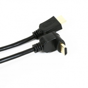 OMEGA KABEL HDMI v.1.4 GOLD ANGULAR 5M BLISTER 41854