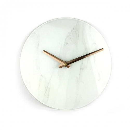 PLATINET WALL CLOCK MARBLE GLASS [44871]